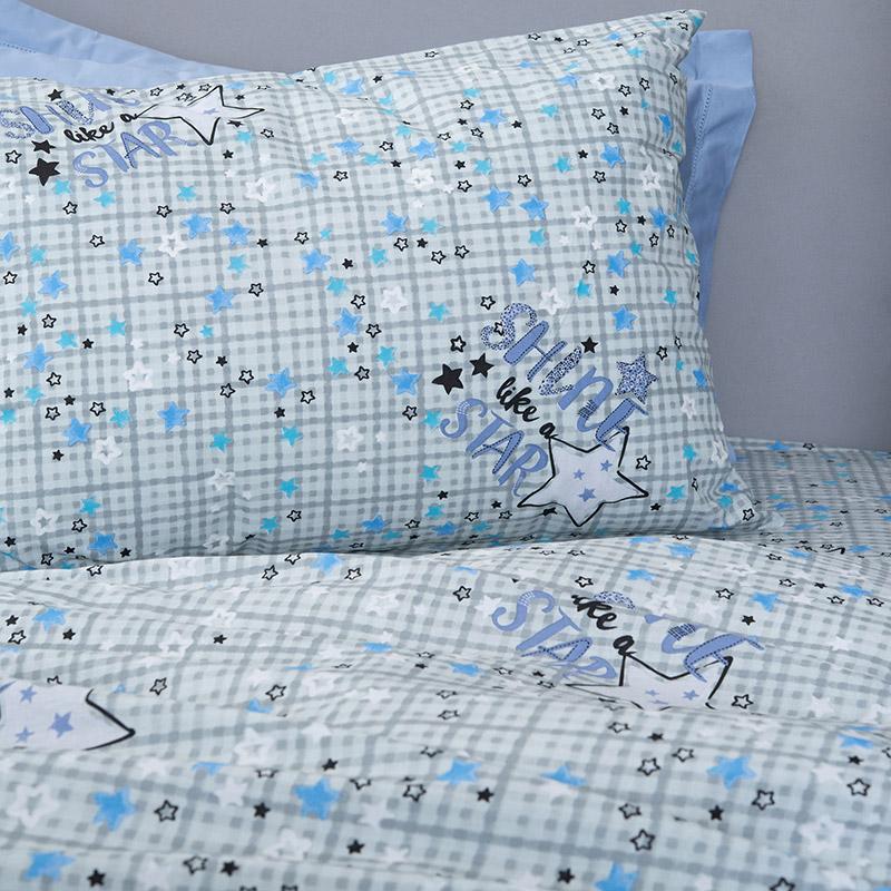 Φωσφορίζε Μαξιλαροθήκες Ζεύγος 50X70 Palamaiki Cluster Blue (50×70)