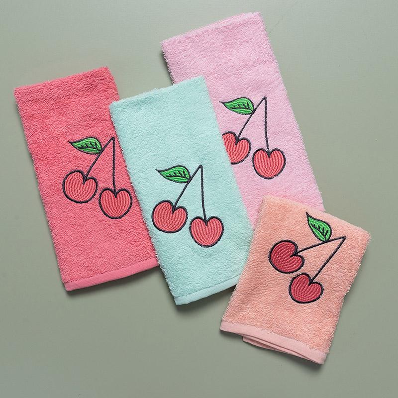 Παιδικές Πετσέτες (Σετ 4 Τμχ) 40X60 Palamaiki Cherries (40×60)