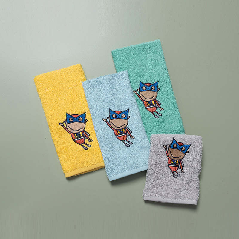 Παιδικές Πετσέτες (Σετ 4 Τμχ) 40X60 Palamaiki Superhero (40×60)