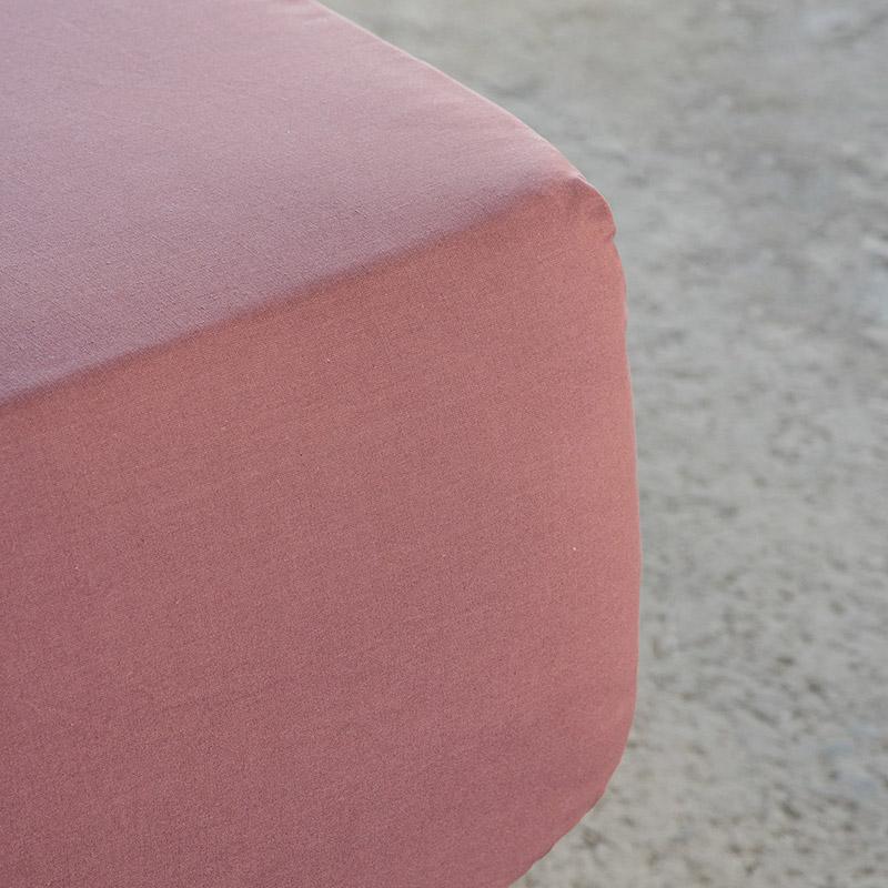 Σεντόνι Μεμονωμένο King Size 180×200+34 Nima Superior Satin Terracotta Με Λάστιχο (180×200+34)