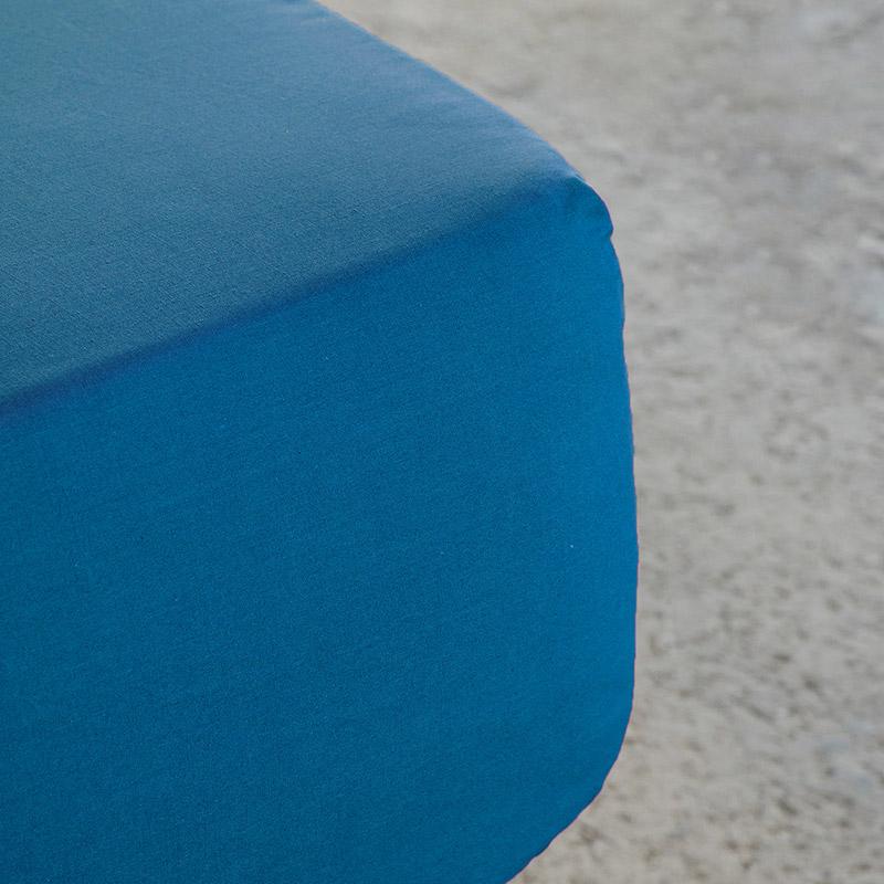 Σεντόνι Μεμονωμένο Ημίδιπλο 120×200+32 Nima Unicolors Blue Με Λάστιχο