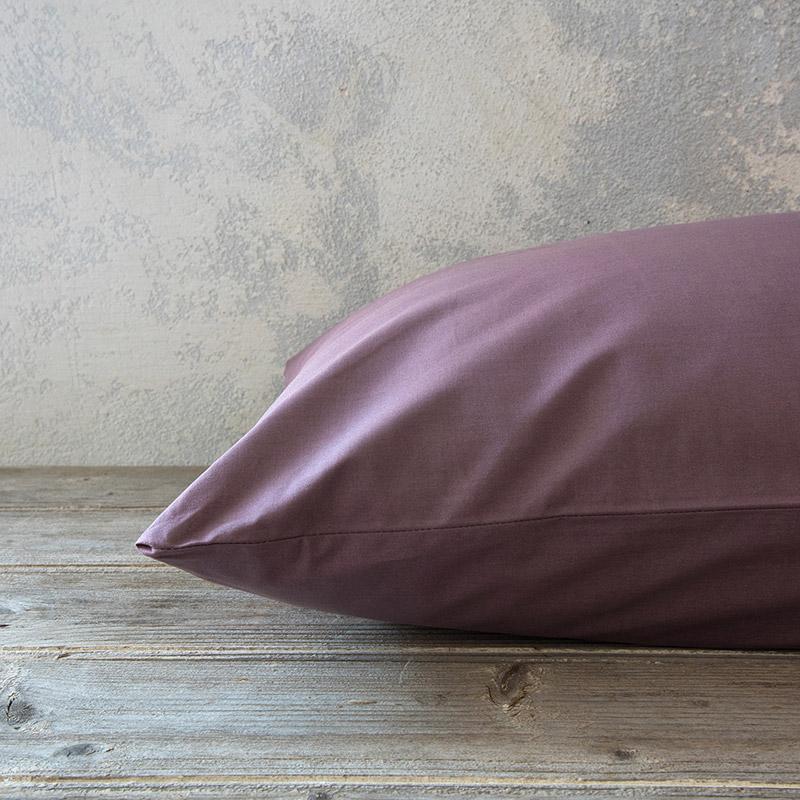 Μαξιλαροθήκες Ζεύγος 52×72 Nima Unicolors Rose Brown (52×72)