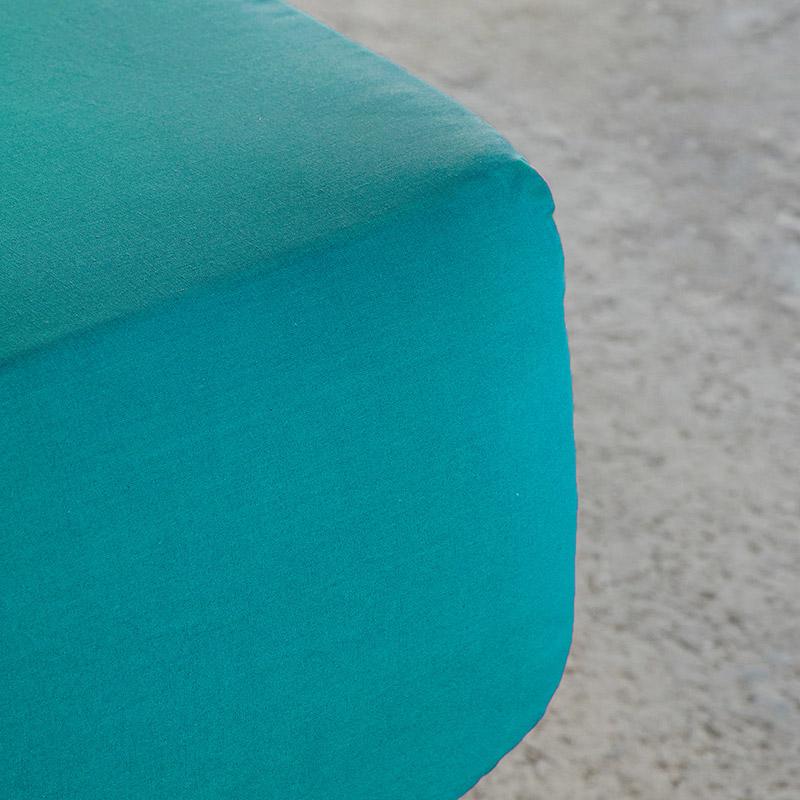 Σεντόνι Μεμονωμένο Ημίδιπλο 120×200+32 Nima Unicolors Emerald Με Λάστιχο