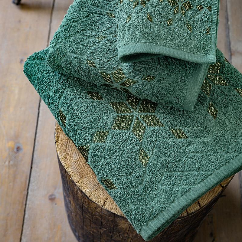 Πετσέτες Μπάνιου (Σετ 3 Τμχ) Nima Jubilee Green