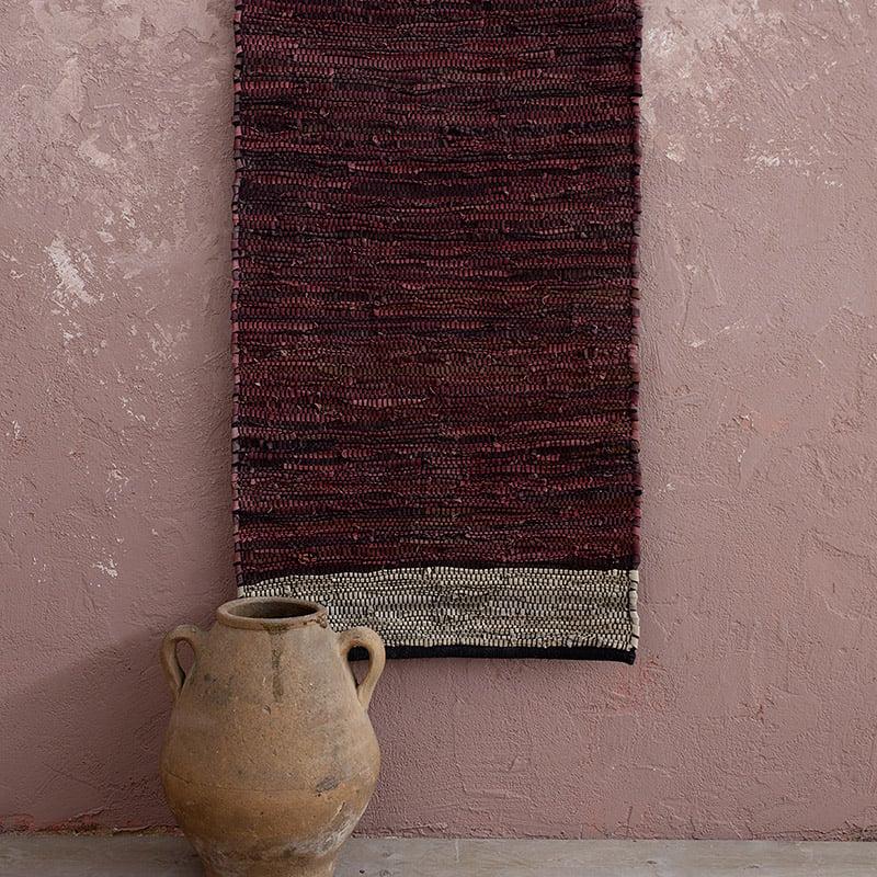 Χαλί Διαδρόμου 60X130 Nima Ziggy Wine Red (60×130)