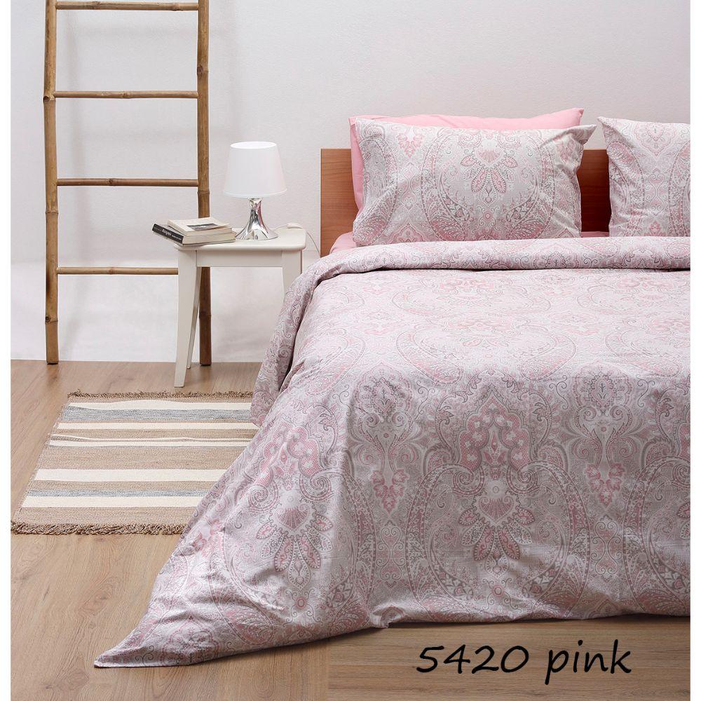 Σεντόνια Διπλά (Σετ) Pink 5420