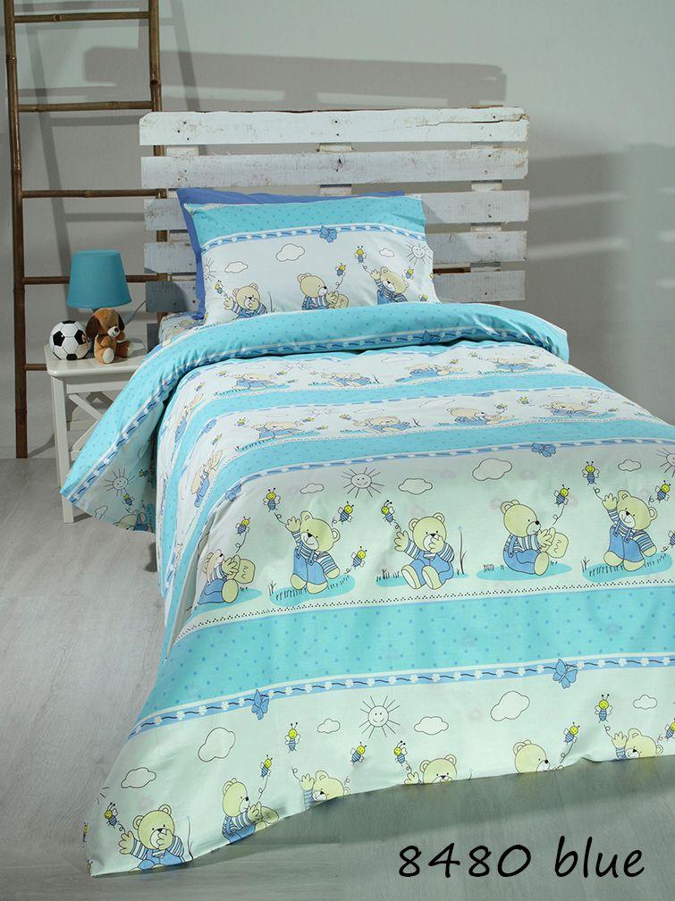 Σεντόνια Μονά (Σετ) Blue bears 8480