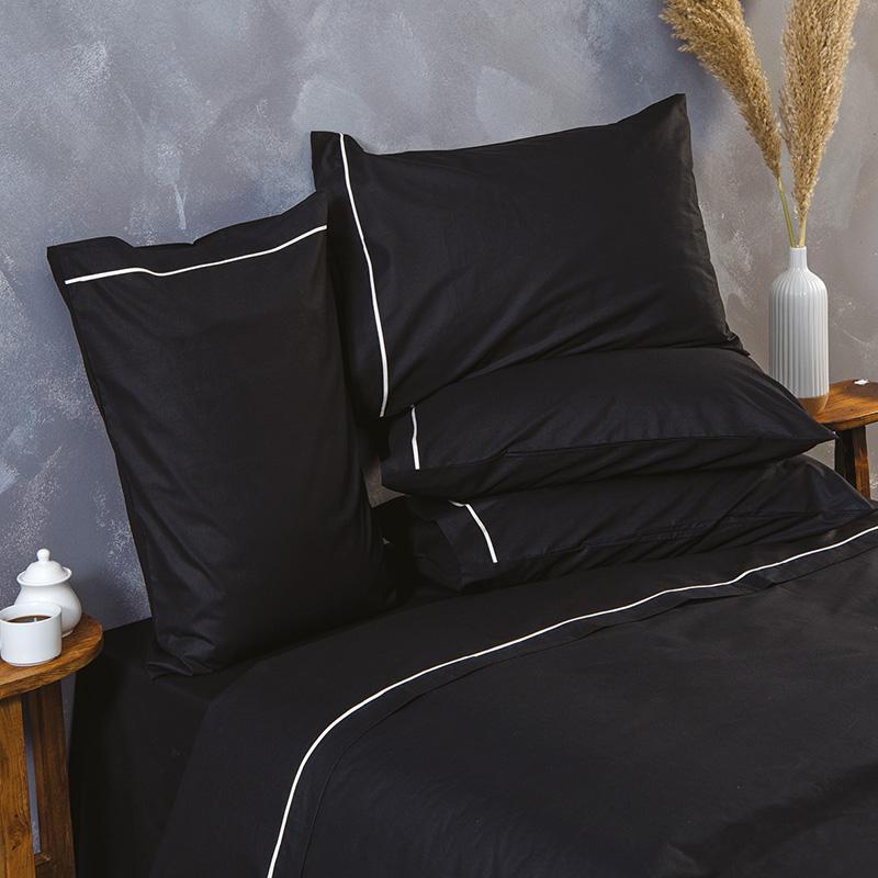 Σεντόνια Μονά (Σετ) 170X260 Sb Home Ios Black Χωρίς Λάστιχο (170×260)
