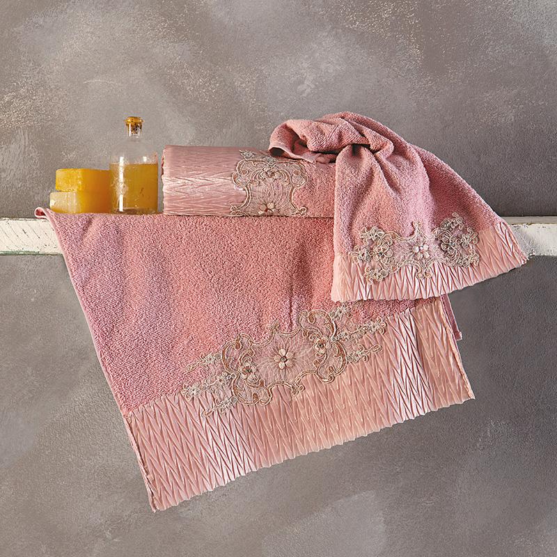 Πετσέτες Μπάνιου (Σετ 3 Τμχ) Sb Home Terina Dusty