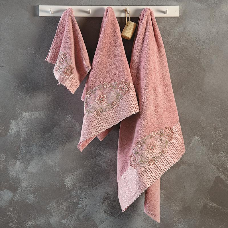 Πετσέτες Μπάνιου (Σετ 3 Τμχ) Sb Home Vittoria Dusty