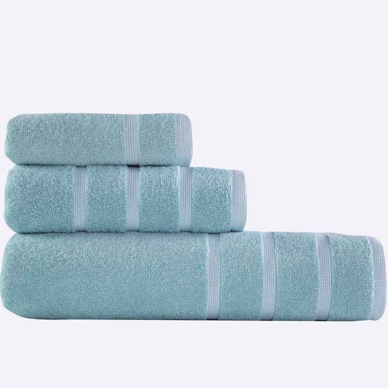 Πετσέτες Μπάνιου (Σετ 3 Τμχ) Madison Nef Nef Aqua/White