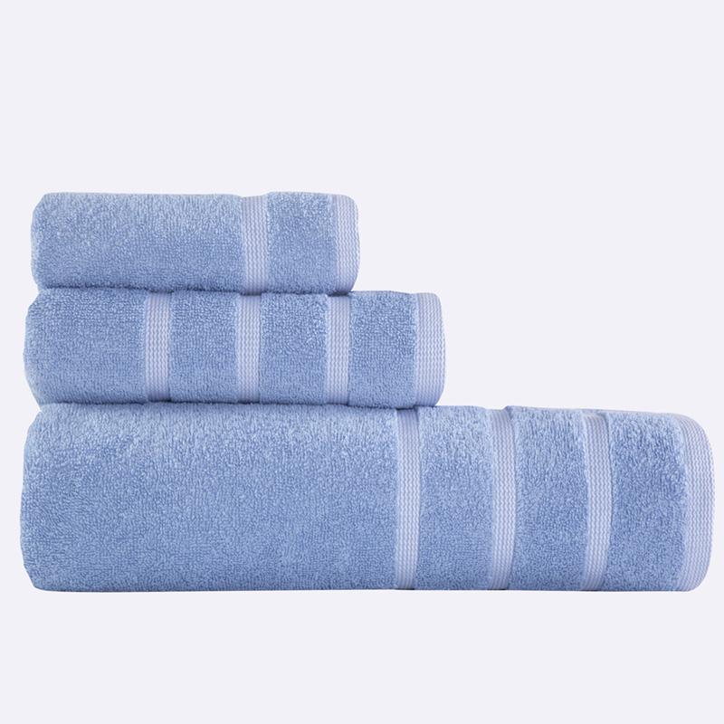 Πετσέτες Μπάνιου (Σετ 3 Τμχ) Madison Nef Nef Blue/White