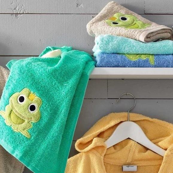 Πετσέτες Βρεφικές (Σετ 4 Τμχ) 40×60 Frog/1 Palamaiki Pearl Young