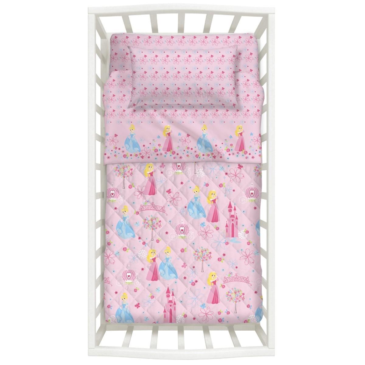 Βρεφικό Σετ Κρεβατιού (Σετ 5 Τμχ) Princess Palamaiki Baby Collection
