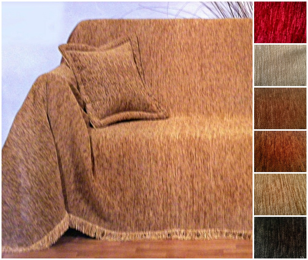 Ελληνικό ριχτάρι 100% ακρυλικό σενιλ μεμονωμένα σε 6 χρώματα-Τριθέσιος 180×300