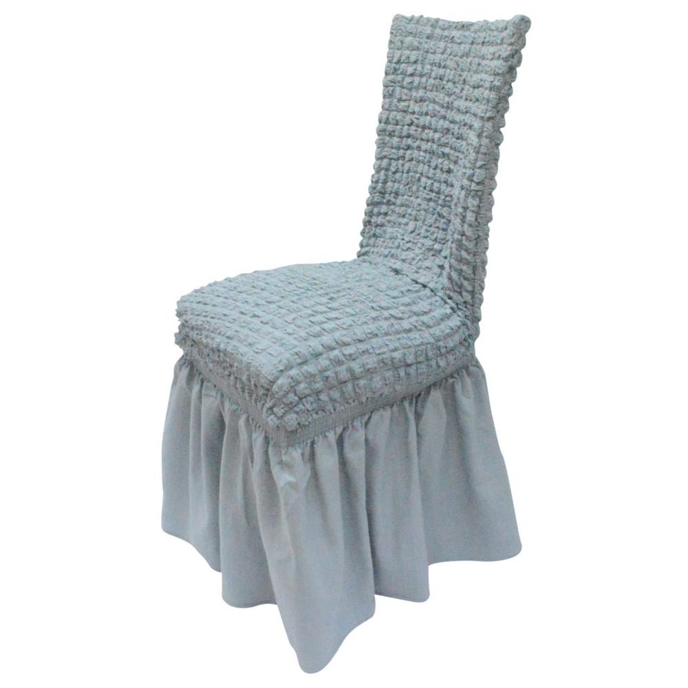 Ελαστικό κάλυμμα καρέκλας 70% Βαμβάκι-30% Λύκρα (Ανά τεμάχιο)-Γκρι καλύμματα επίπλων καλύμματα καρέκλας