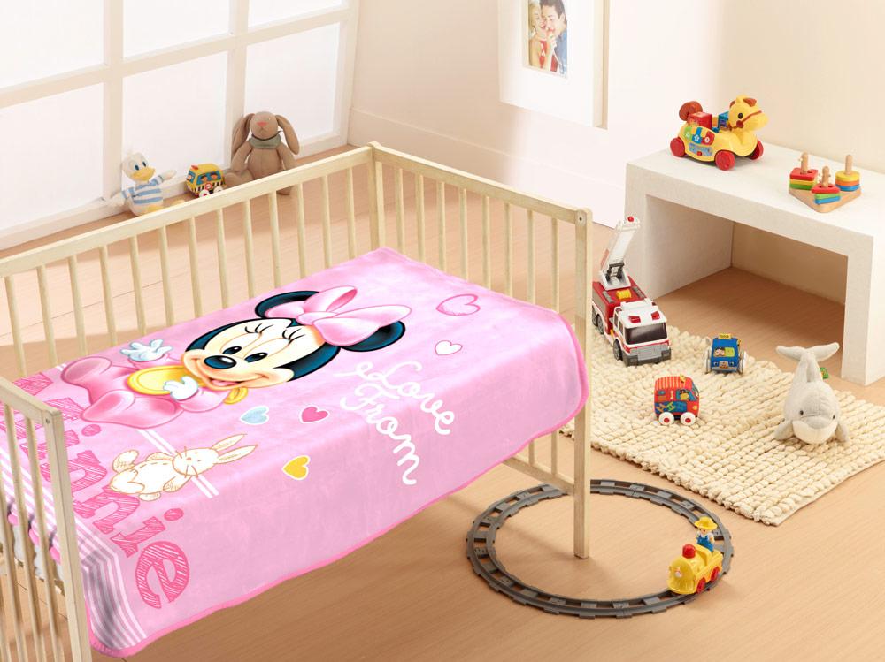 Βρεφική Κουβέρτα Βελουτέ Disney 90×120 MINNIE 10 Digital Print
