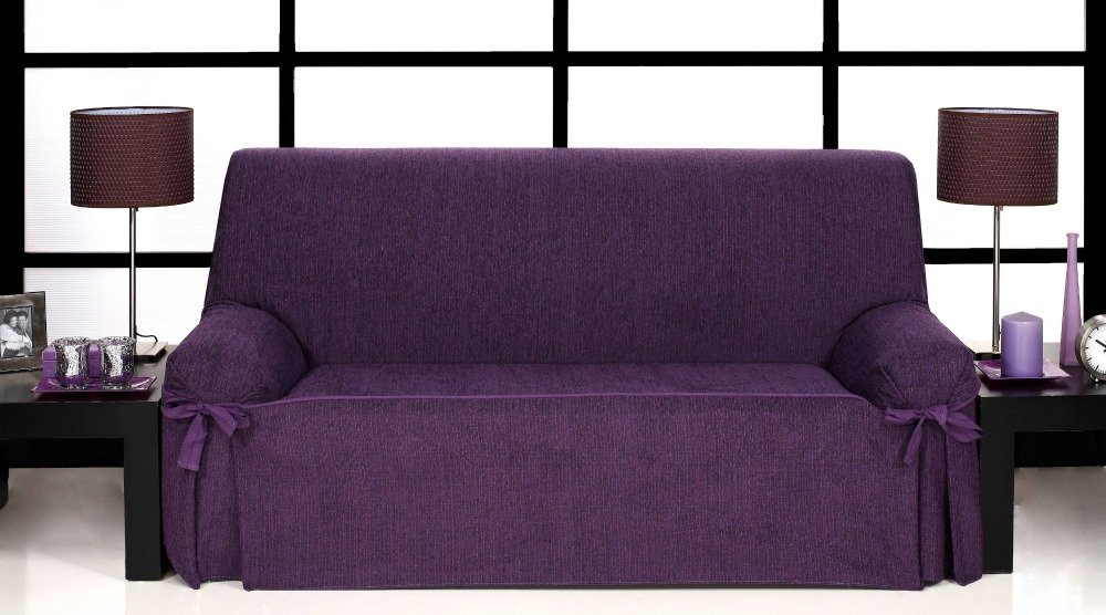 Καλύμματα καναπέ σταθερά με δέστρες Kioto-Πολυθρόνα-Μωβ-10+ Χρώματα Διαθέσιμα-Κα καλύμματα επίπλων καλύμματα καναπέ σαλονιού   πολυθρόνας