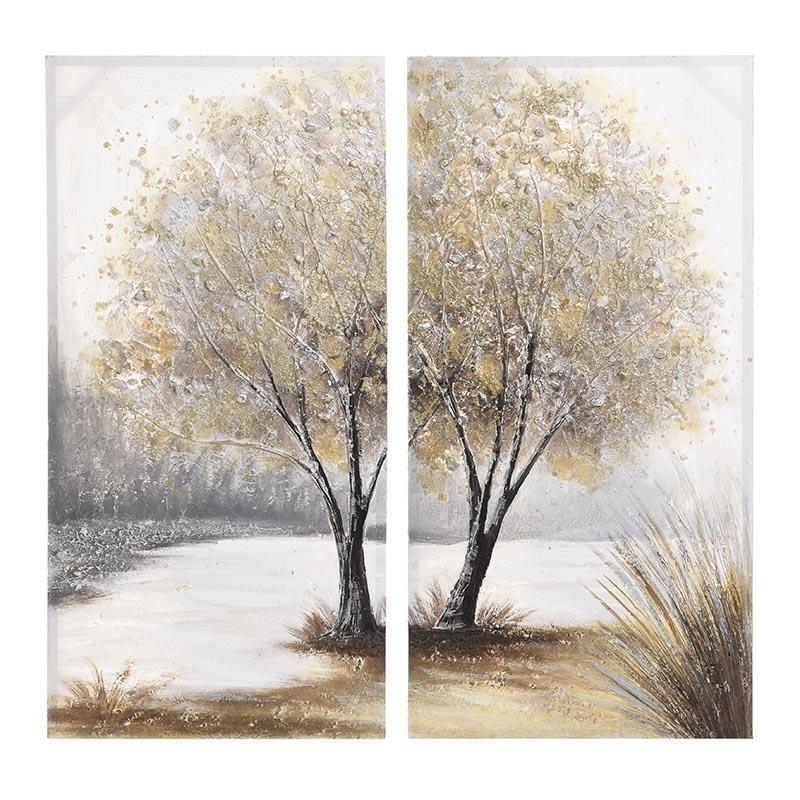 Πίνακας Καμβάς Σετ Των 2 Inart 3-90-519-0156