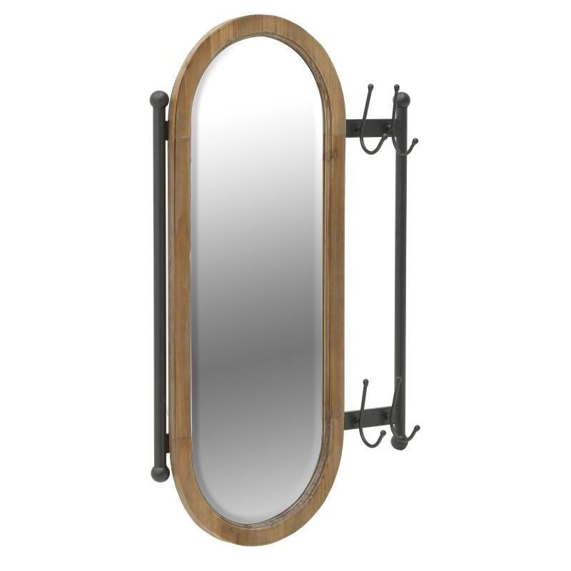 Καθρέπτης Τοίχου/Κρεμάστρα Inart 3-95-196-0005
