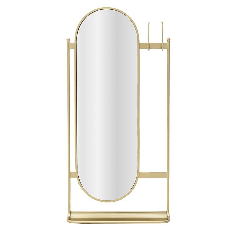 Καθρέπτης Τοίχου/Κρεμάστρα Inart 3-95-954-0012