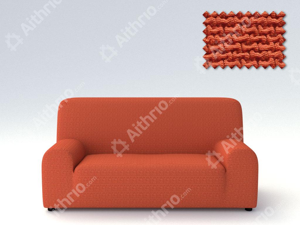 Ελαστικά Καλύμματα Προσαρμογής Σχήματος Καναπέ Bielastic Alaska-Πορτοκαλί-Τριθέσιος-10+ Χρώματα Διαθέσιμα-Καλύμματα Σαλονιού