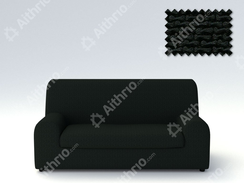 Ελαστικά καλύμματα καναπέ Ξεχωριστό Μαξιλάρι Bielastic Alaska-Πολυθρόνα-Μαύρο-10+ Χρώματα Διαθέσιμα-Καλύμματα Σαλονιού