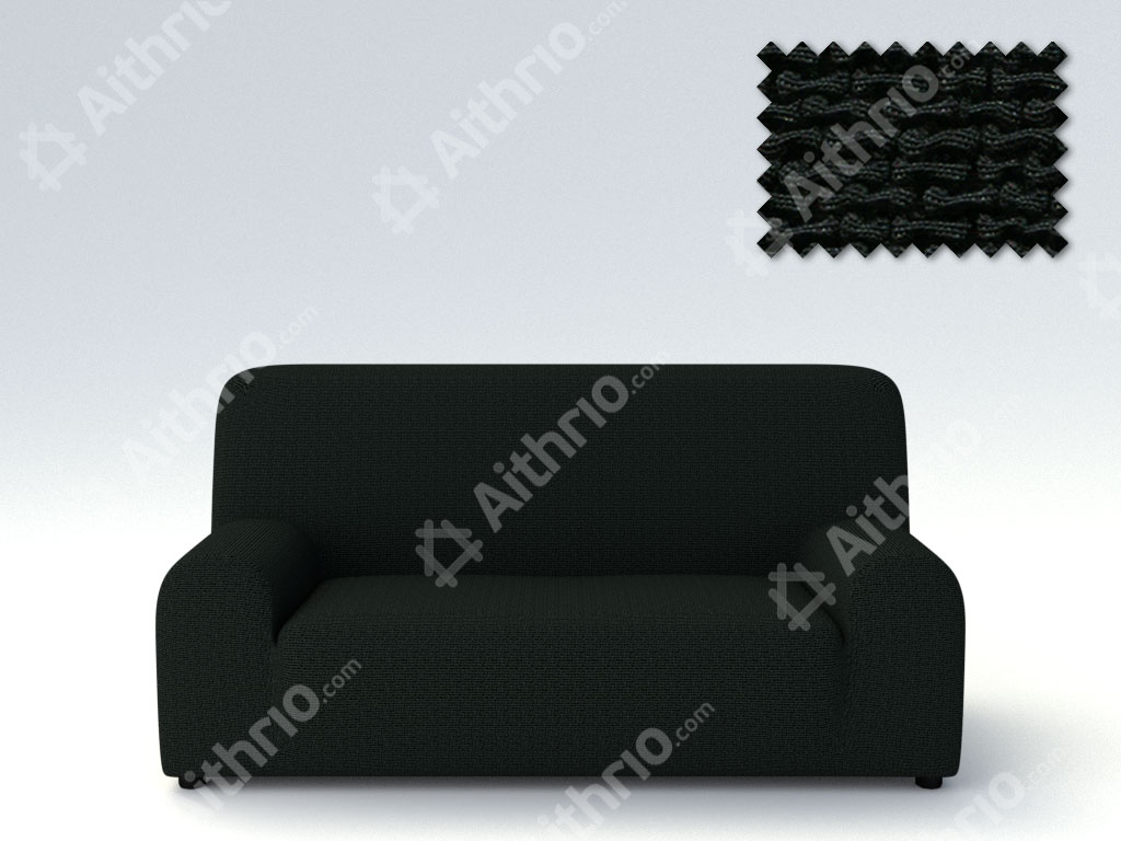 Ελαστικά καλύμματα καναπέ Bielastic Alaska-Πολυθρόνα-Μαύρο-10+ Χρώματα Διαθέσιμα-Καλύμματα Σαλονιού