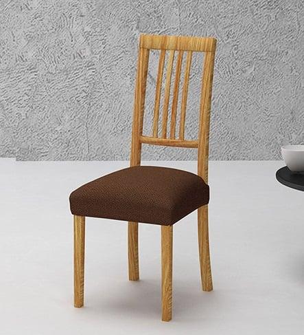 Σετ (2 Τμχ) Ελαστικά Καλύμματα-Καπάκια Καρεκλών Bielastic Alaska-Καφέ καλύμματα επίπλων καλύμματα καρέκλας