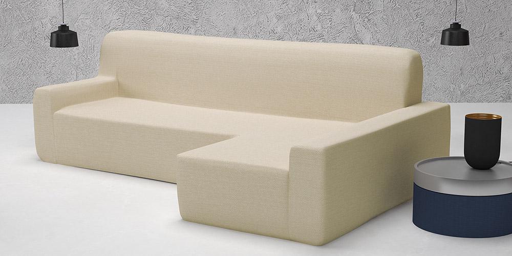 Ελαστικά καλύμματα γωνιακού καναπέ Bielastic Alaska-Δεξια-Ιβουάρ