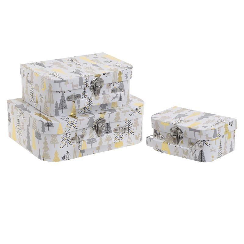 Κουτί/Βαλίτσα Σετ Των 3 Inart 2-70-144-0110