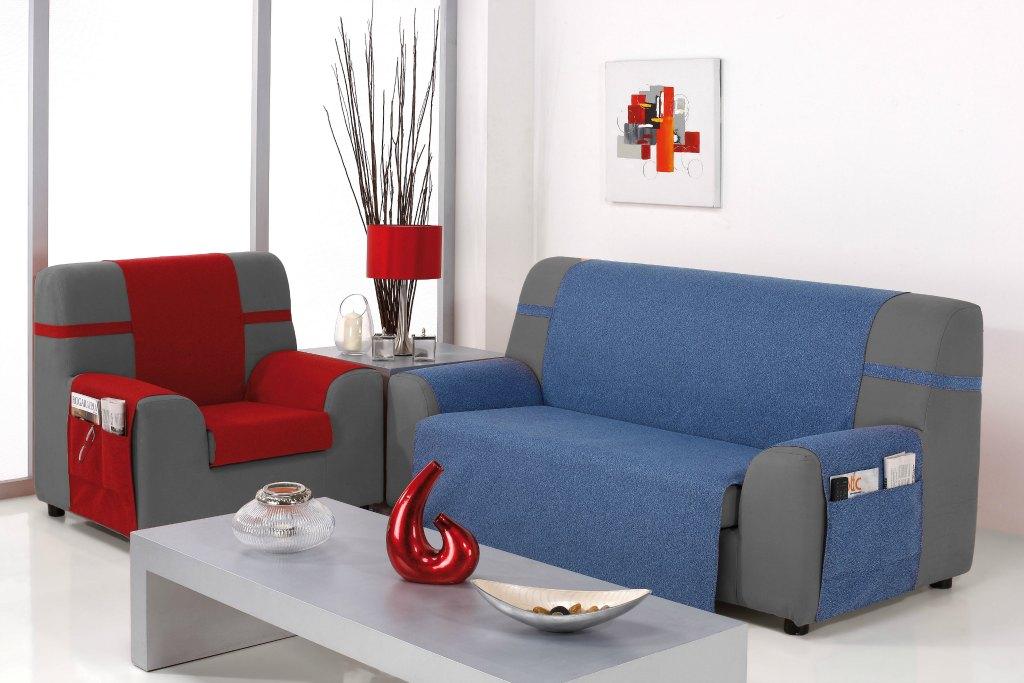 Καλύμματα καναπέ Universal Banes-Τριθέσιος-Μπλε-10+ Χρώματα Διαθέσιμα-Καλύμματα Σαλονιού
