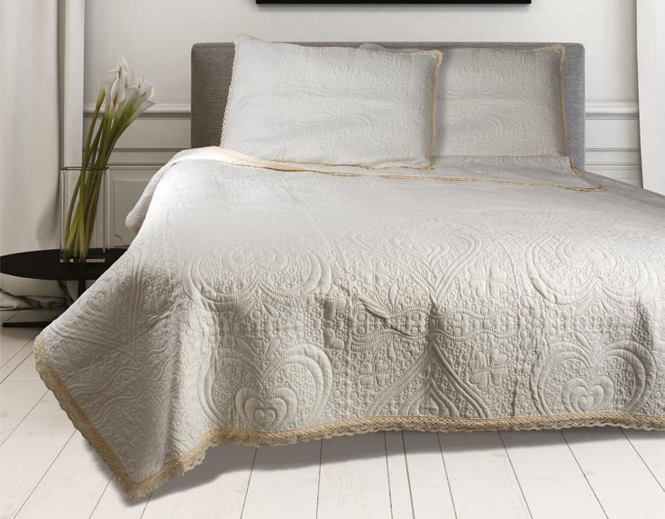 Κουβερλί Μονό (Σετ) 160×240 Lace Ivory 81-072