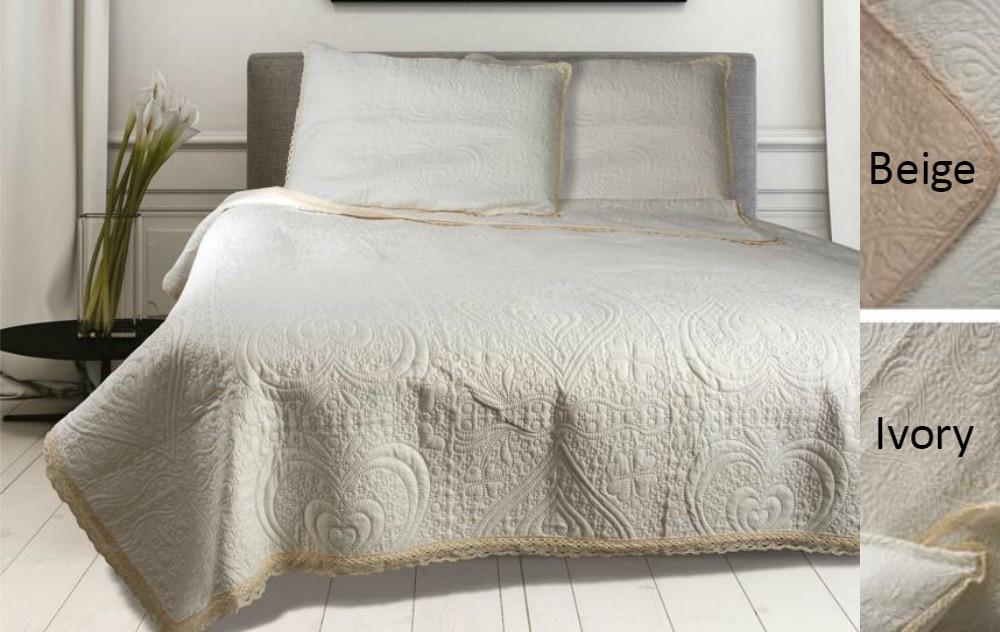 Κουβερλί Μονό (Σετ) 160×240 Lace Beige 81-072