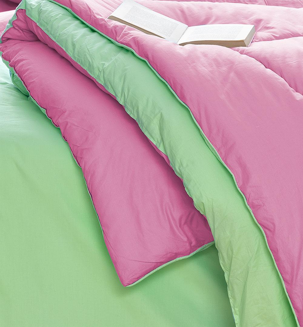Σεντόνια+Πάπλωμα+Παπλωματοθήκη Υπέρδιπλα(Σετ 8τμχ) Bm0807 Palamaiki Bed In A Bag Monochromatic Φουξια-βεραμαν
