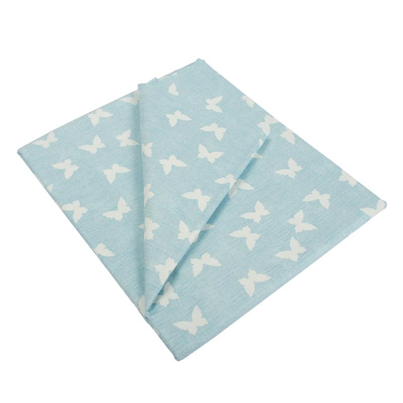 Σεντόνια Μονά (Σετ) 160X240 Dimcol Butterfly 54 Blue Χωρίς Λάστιχο