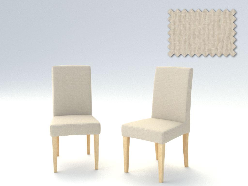 Σετ (2 Τμχ) Ελαστικά Καλύμματα Καρεκλών Με Πλάτη Peru-Ιβουάρ καλύμματα επίπλων καλύμματα καρέκλας