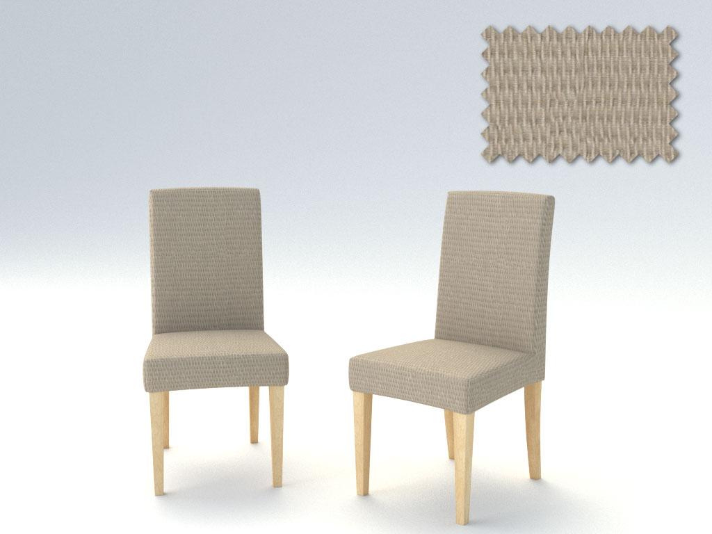 Σετ (2 Τμχ) Ελαστικά Καλύμματα Καρεκλών Με Πλάτη Peru-Λινό καλύμματα επίπλων καλύμματα καρέκλας