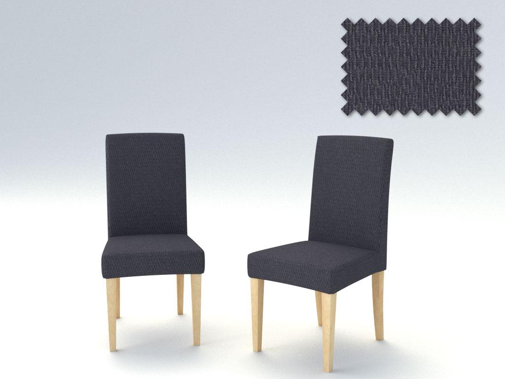 Σετ (2 Τμχ) Ελαστικά Καλύμματα Καρεκλών Με Πλάτη Peru-Γκρι καλύμματα επίπλων καλύμματα καρέκλας