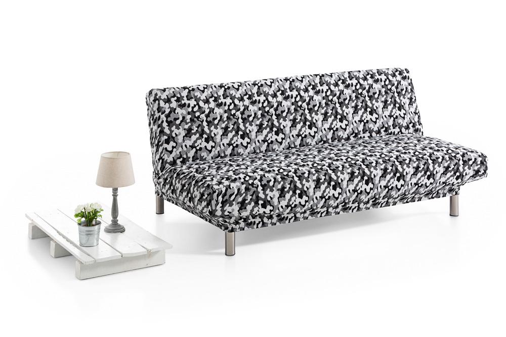 Ελαστικά Καλύμματα Καναπέ Κρεβάτι Click Clack Camo – C/17 Λευκό