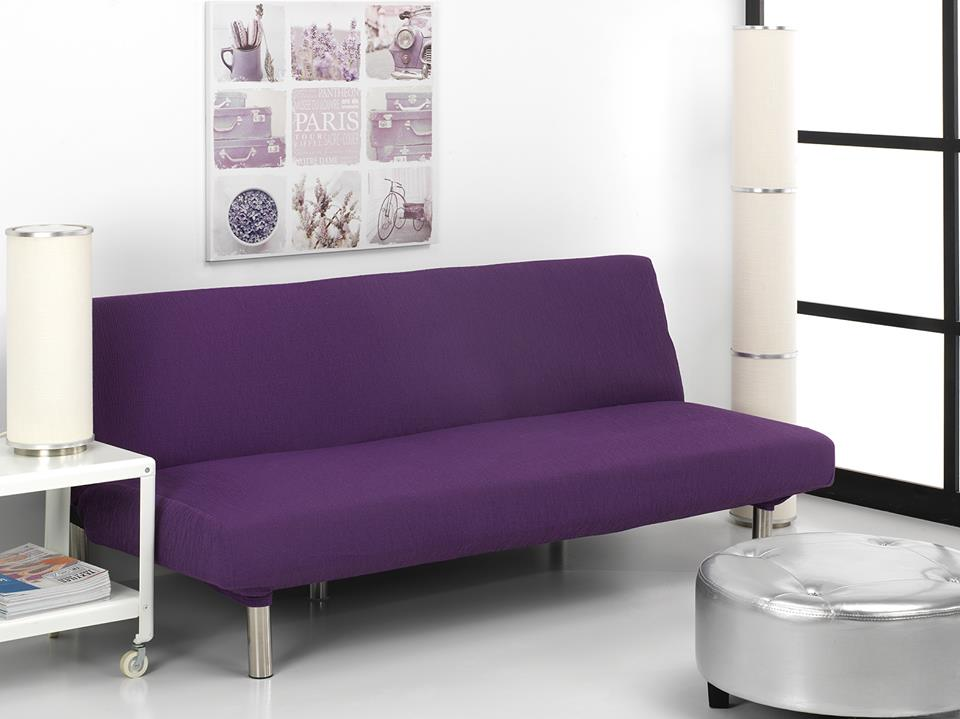 Ελαστικά Καλύμματα Καναπέ Κρεβάτι Click Clack Valencia-Μωβ