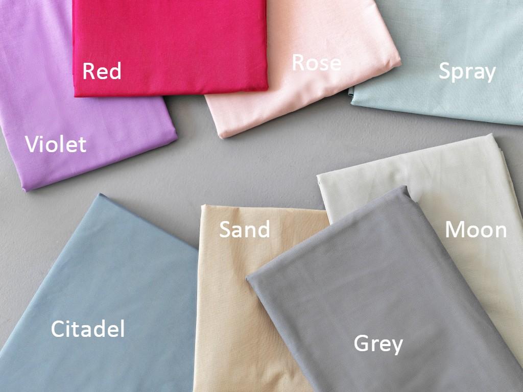 Σεντόνι (Μεμωνομένο) Υπέρδιπλο 240×265 COLOUR RAINBOW Palamaiki Colour Rainbow Χωρίς Λάστιχο RED