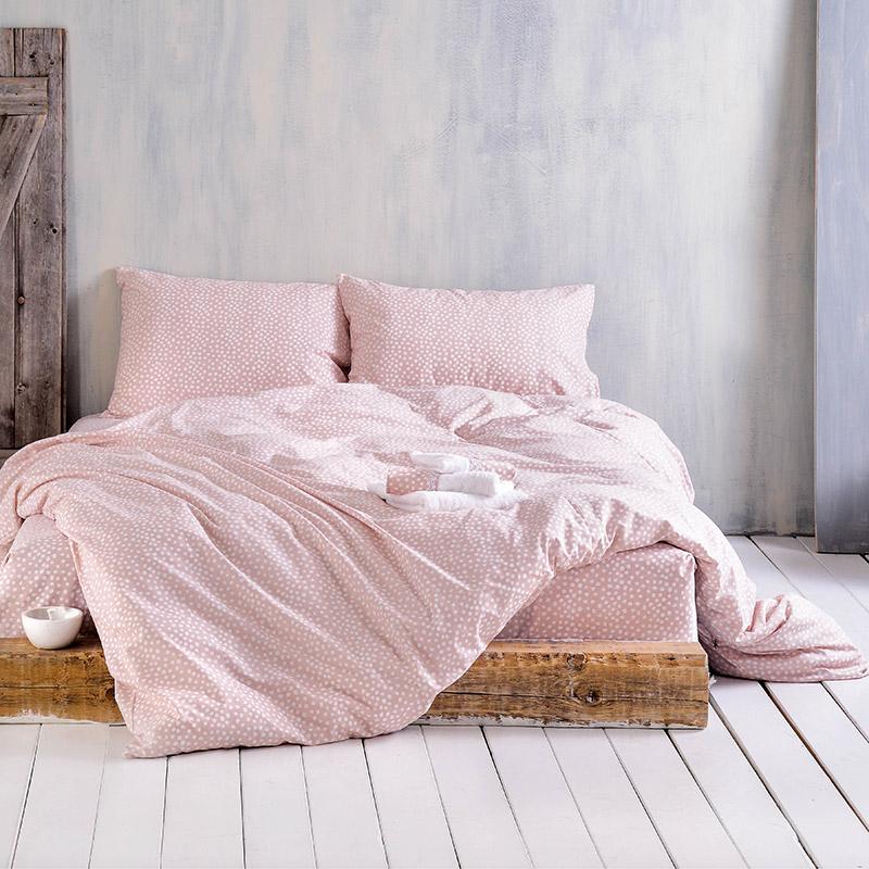 Σεντόνια Υπέρδιπλα (Σετ) 160X205+25 Rythmos Cute Ροζ Με Λάστιχο