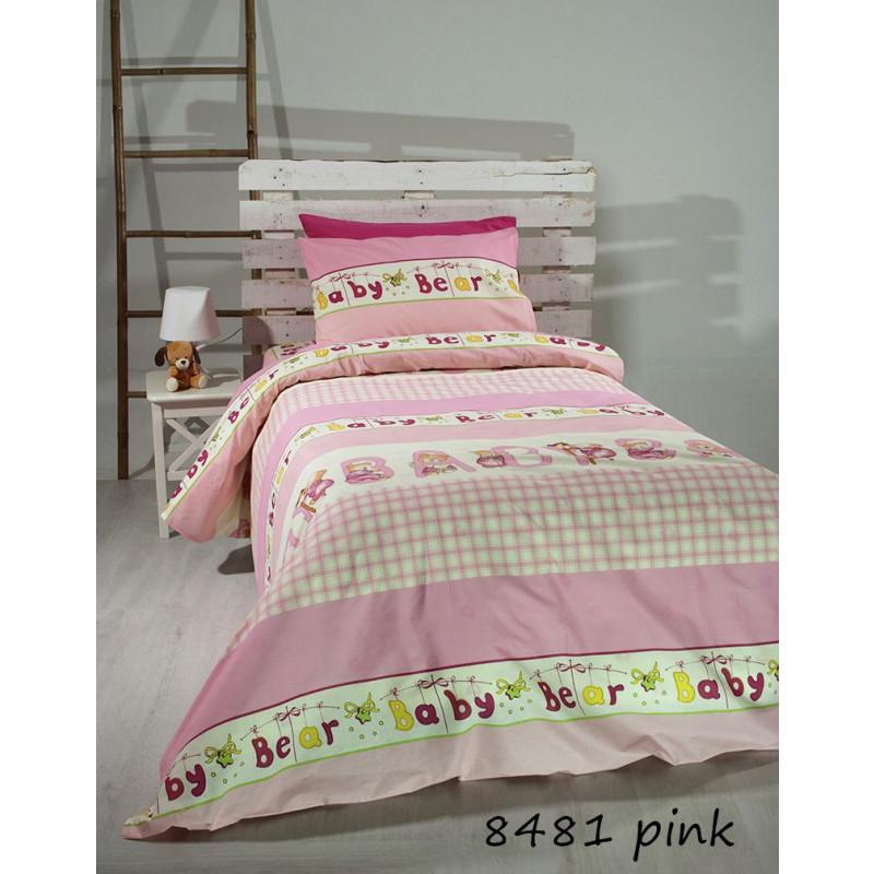 Σεντόνια Μονά (Σετ) Pink bears 8481