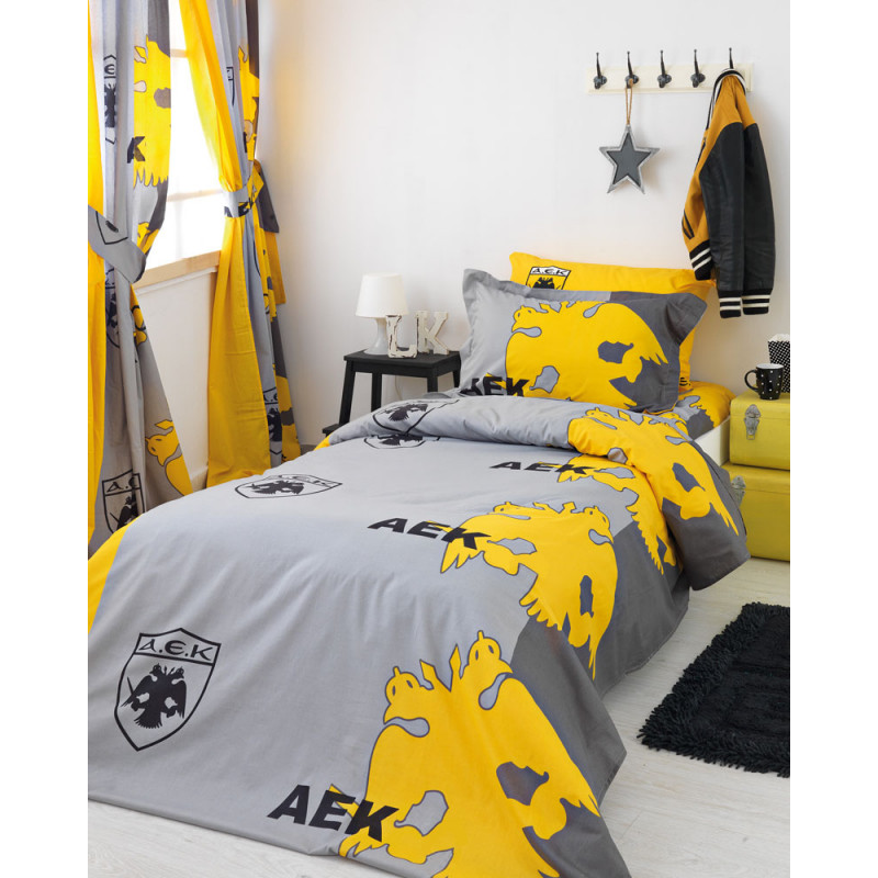 Μαξιλαροθήκες Oxford (ζεύγος) Palamaiki Official Team Licenced A.e.k./2 Yellow