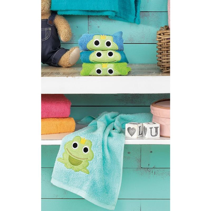 Πετσέτες Βρεφικές (Σετ 4 Τμχ) 40x60 Frog/2 Palamaiki Pearl Young