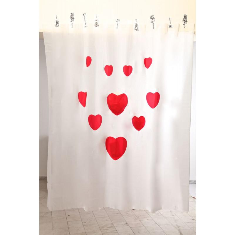 Κουρτίνα Μπάνιου 180x200 Hearts Palamaiki Shower Curtain