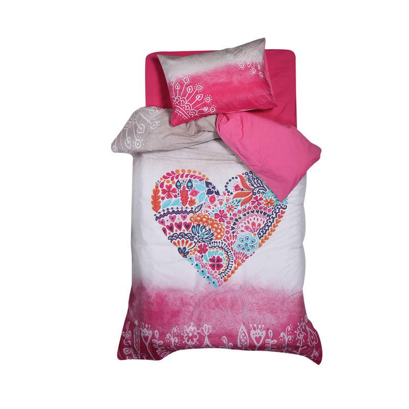 Παπλωματοθήκη Μονή (Σετ) 160x240 Nef Nef Teens Stylish Heart