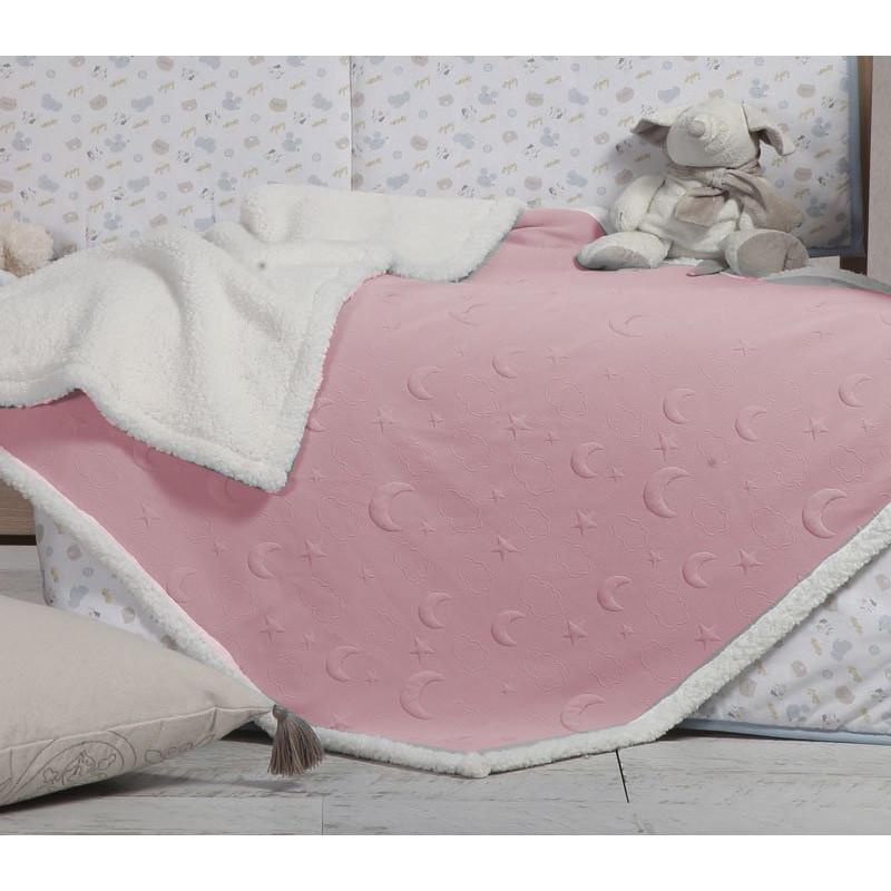 Κουβερτοπάπλωμα Αγκαλιάς 75x110 Nef Nef Sky Above Pink