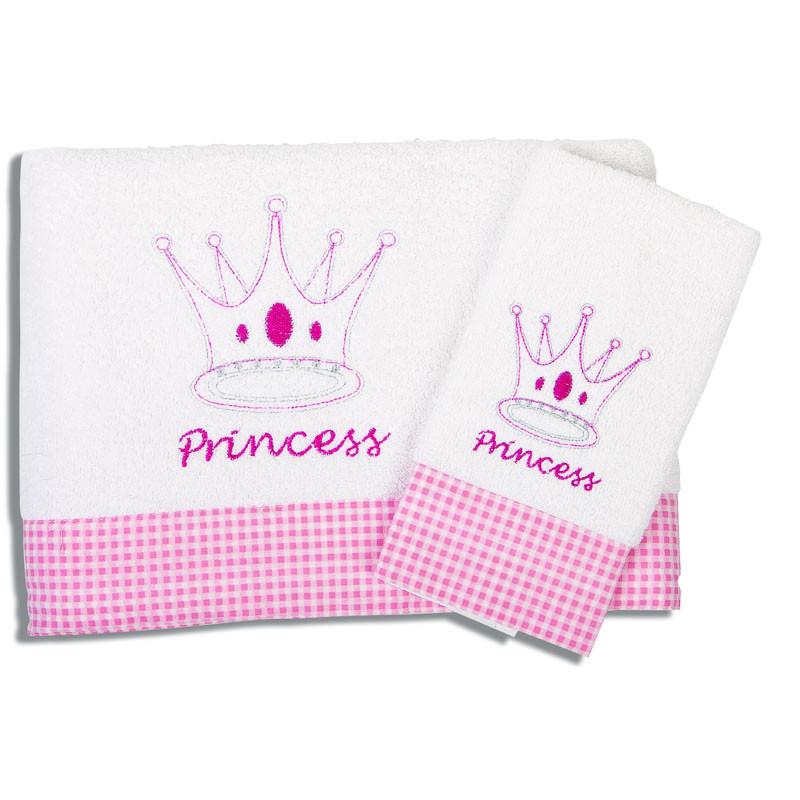 Βρεφικές Πετσέτες (Σετ 2 Τμχ) Dimcol Princess 33 Ροζ